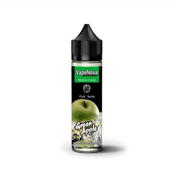 πρασινο μηλο υγρο αναπληρωσης ηλεκτρονικου τσιγαρου με καταπληκτικη γευση από την vapenova.